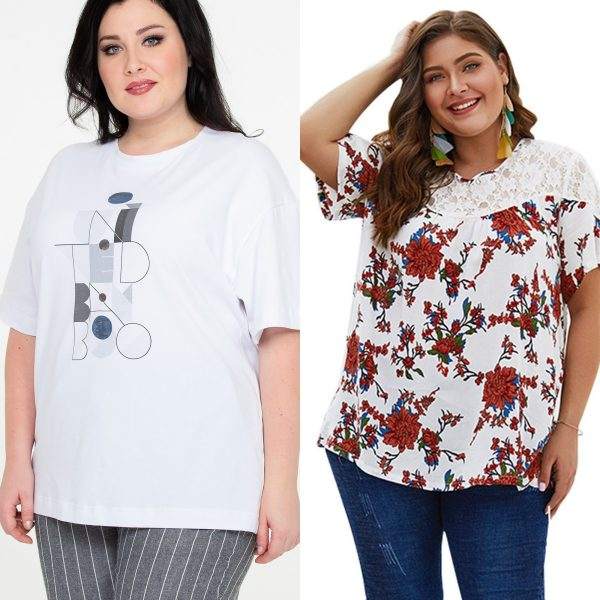 T-shirt on a woman