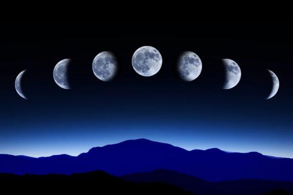 new moon and full moon
