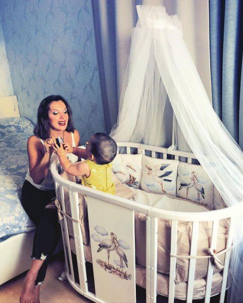 Мария Порошина с младшим сыном Андреем