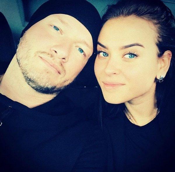 Никита Панфилов с женой Ксенией
