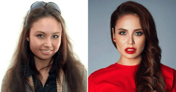 Ляйсан Утяшева раньше и теперь. Фото Дзен