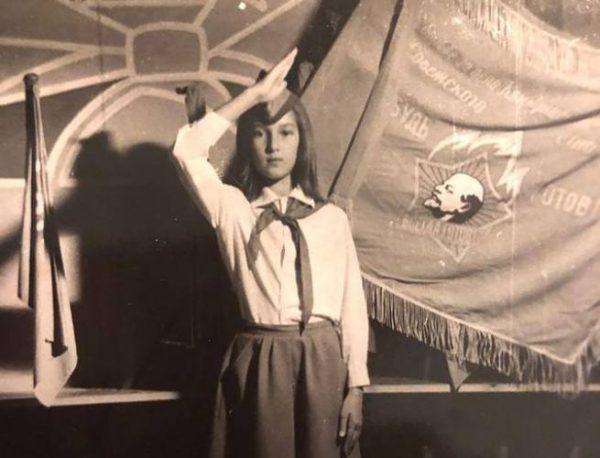 Лера Кудрявцева в школьные годы