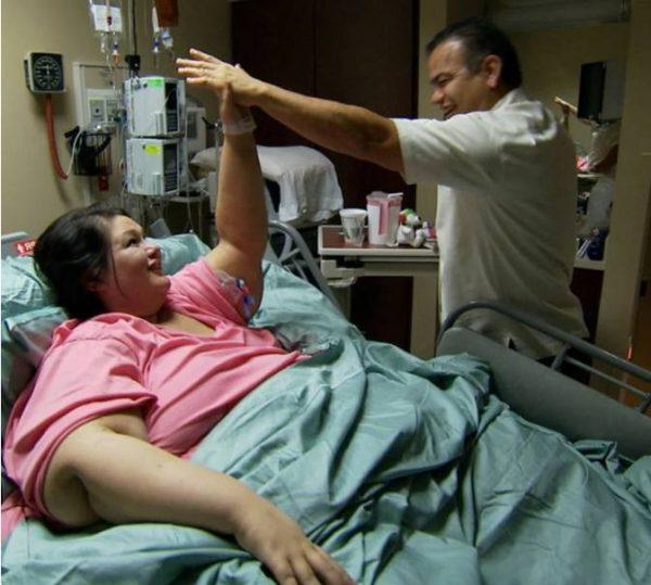 Майра Росалес в больнице