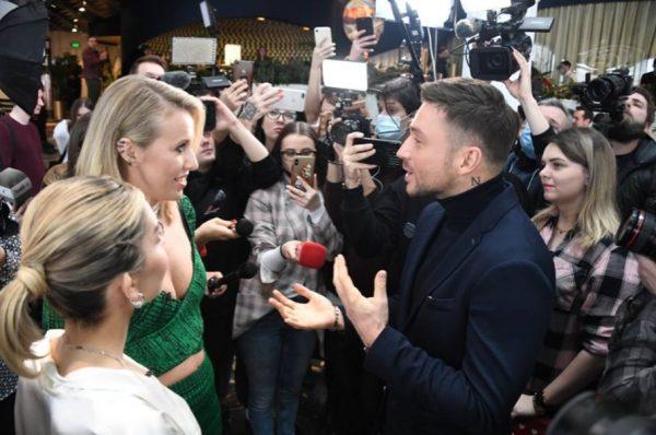 Интервью Собчак у Лазарева и Саевой. Фото radiokp.ru