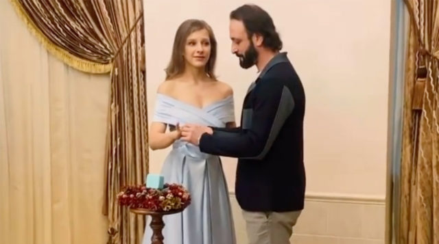 Фото со свадьбы Арзамасовой и Авербуха. Источник фото: @liza_arzamasova