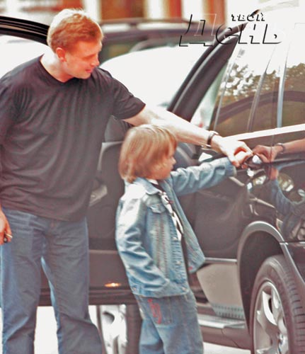 Дмитрий Стрюков с сыном