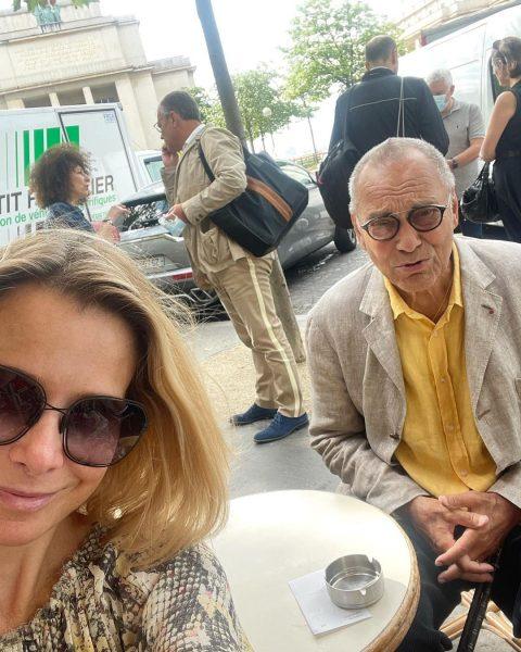 Юлия Высоцкая с мужем в Париже