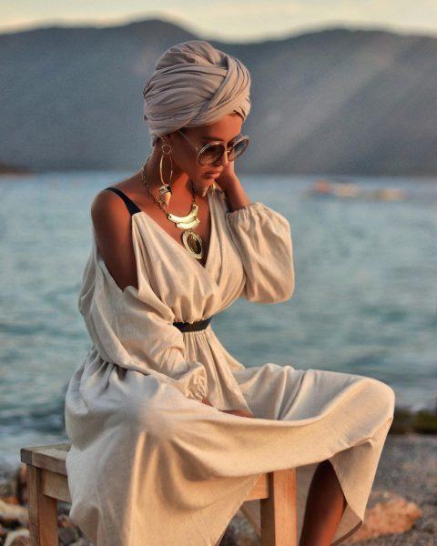 Как красиво завязать платок на голове летом - модные тенденции, фото образов, пошаговые инструкции