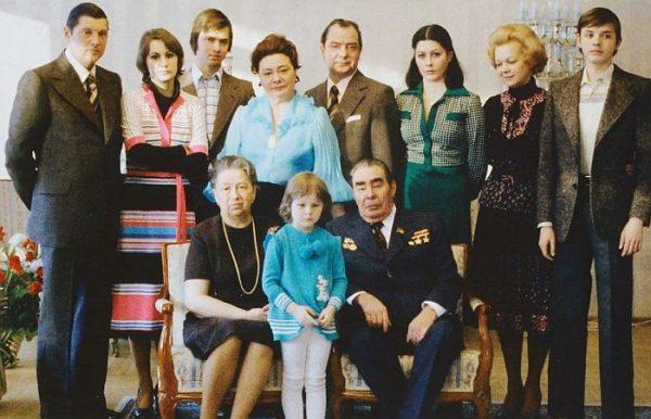 Семья Брежнева. Фото freesmi-by.livejournal.com