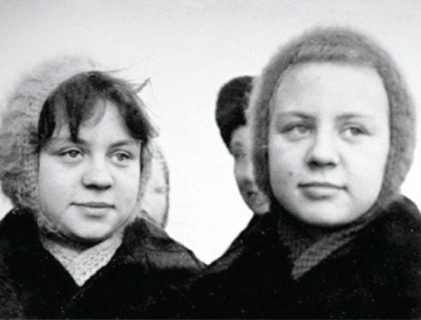 Сестры Юкины в юности. Фото prikolno