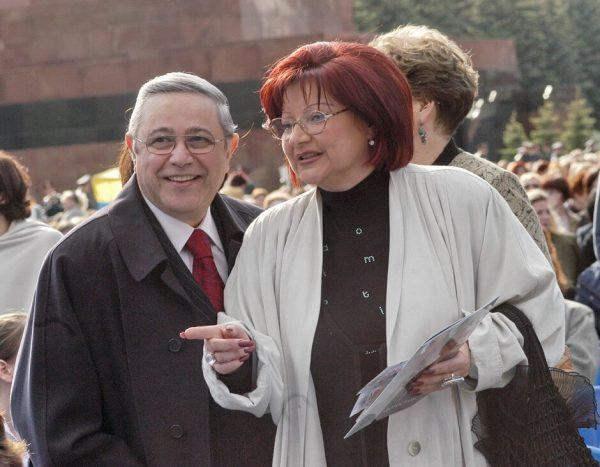 Евгений Петросян и Елена Степаненко, фото:graziamagazine.ru