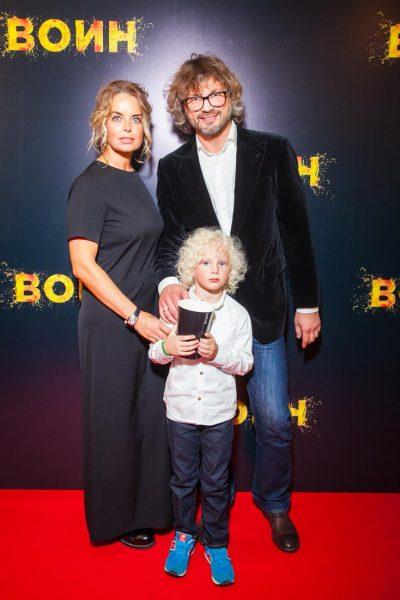 Анастасия Калманович с мужем и сыном