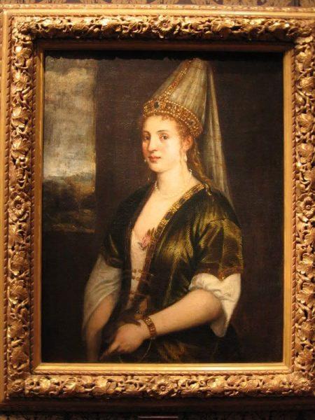 Портрет, нарисованный Тицианом