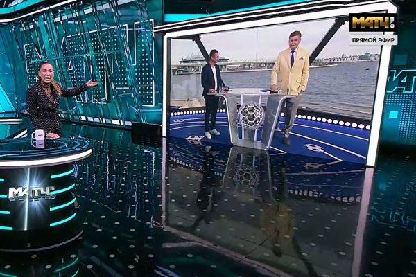 Ольга Бузова в эфире «Матч-ТВ»