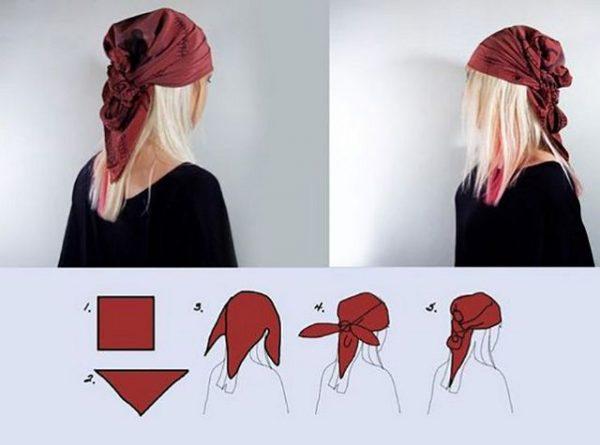 завязать платок