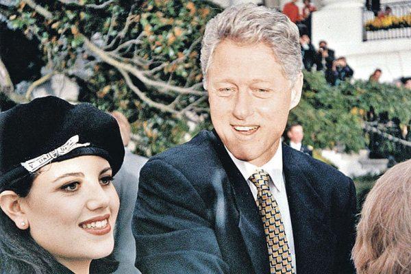 Моника Левински и Билл Клинтон в 1995 году. Фото kp.ru