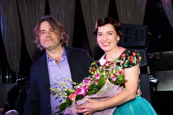 Алиса Мон с мужем