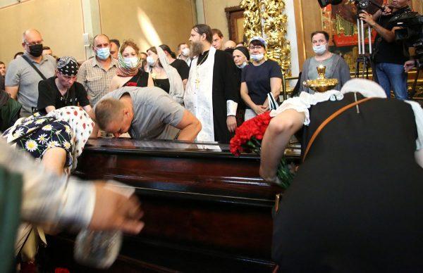 Похороны Петра Мамонова