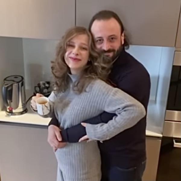 Лиза Арзамасова с мужем