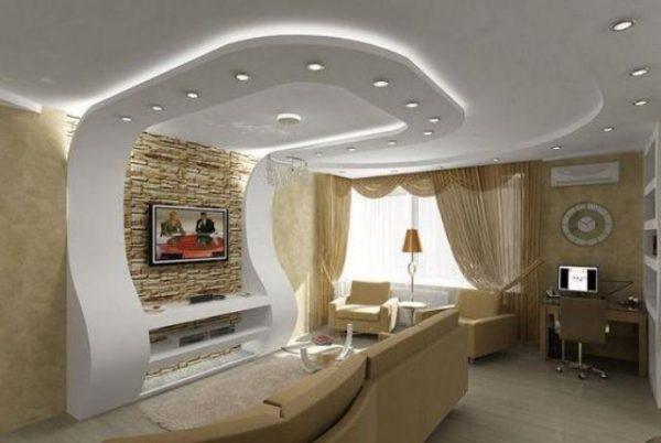 Идеально гладкий потолок любой формы: возможности и достоинства гипсокартона