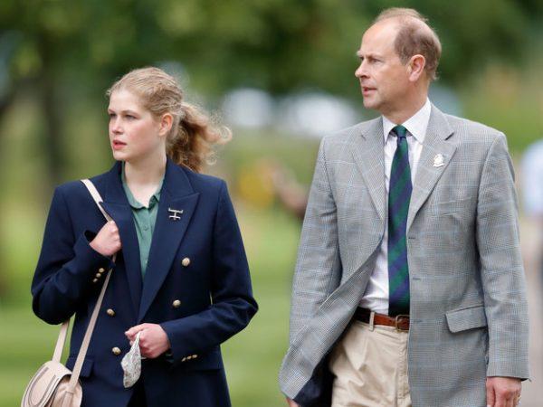 Луиза с папой принцем Эдвардом