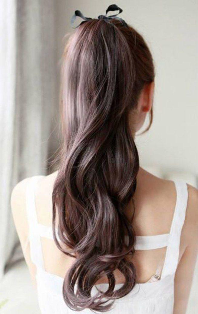 Shiny ponytail