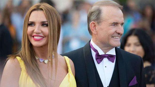 Оксана Марченко и Виктор Медведчук в 2020 году. Фото pravda.com.