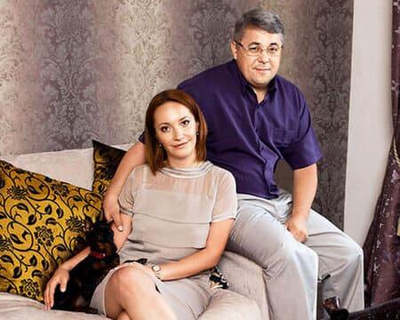 Арина Мелик-Карамова со вторым мужем Виктором