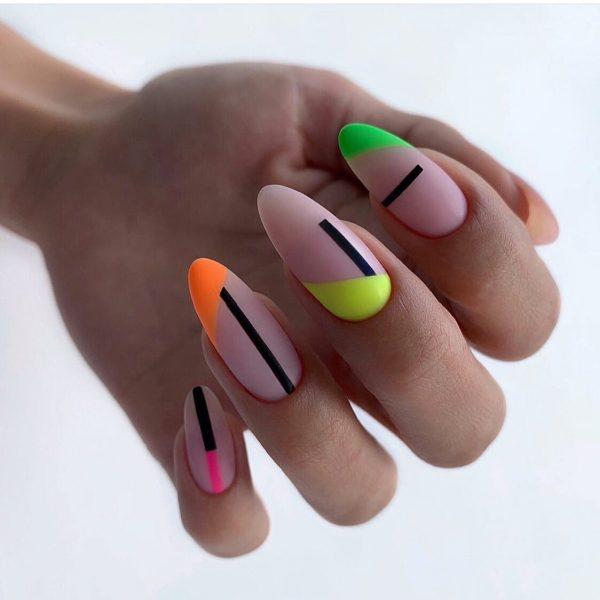Яркий маникюр на лето 2021 - фото модного маникюра, последние тенденции и тренды