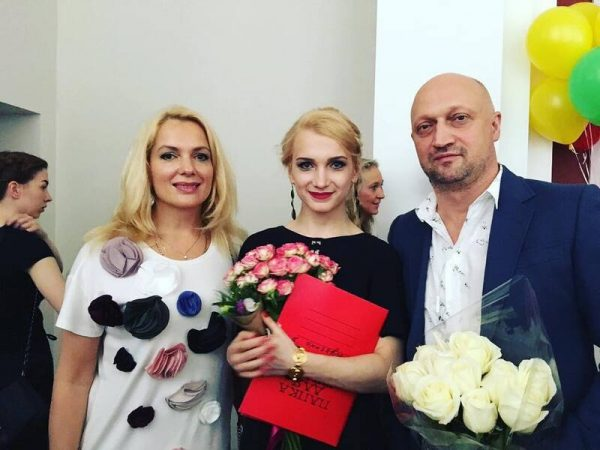 Мария Порошина и Гоша Куценко с дочкой Полиной