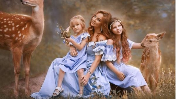 Максим с дочками
