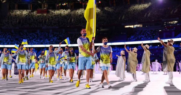 Сборная Украины на открытии Олимпийских игр, фото: Яндекс.Дзен