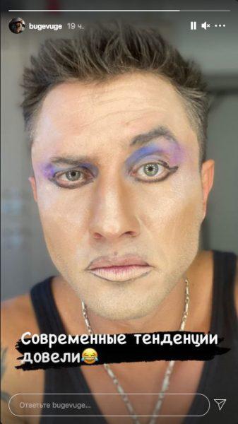 """""""Теперь понятно, почему развелся"""": Прилучного с макияжем заподозрили в нетрадиционной ориентации"""