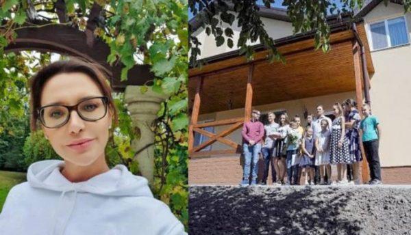 Оксана Марченко и новый дом для многодетной семьи. Фото odnaminyta.com