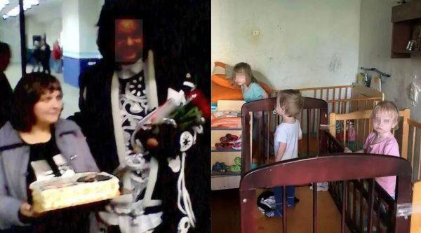 Слева - женщина дарит торт Филиппу Киркорову. Справа - ее дети, видно, что на некоторых кроватках даже матраца нет. Фото: предоставлено Надеждой, героиней материала, а также Анной Тажеевой