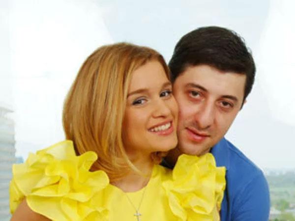 Ксения Бородина с первым мужем