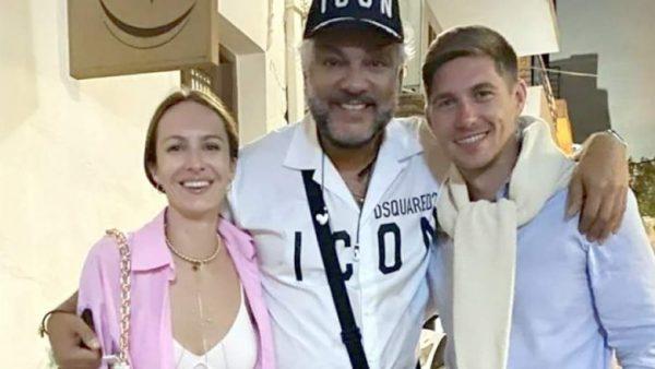 Владимир Остапчук с женой и Киркоровым