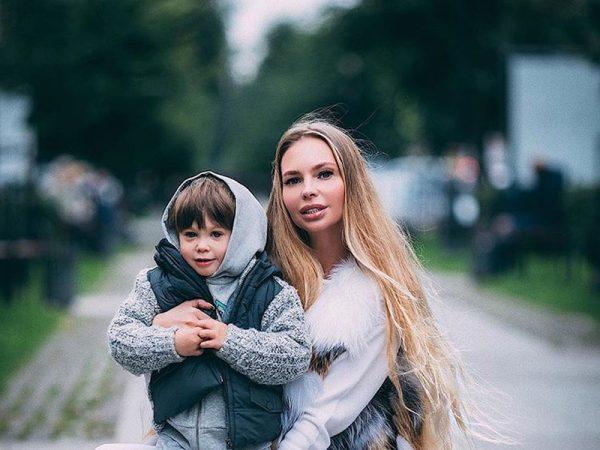 Наталья Горчакова с сыном