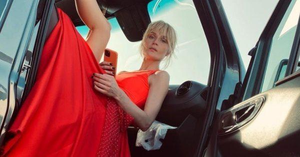 Полина Гагарина в красном