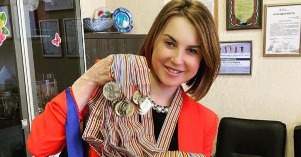 Ирина Слуцкая с медалями