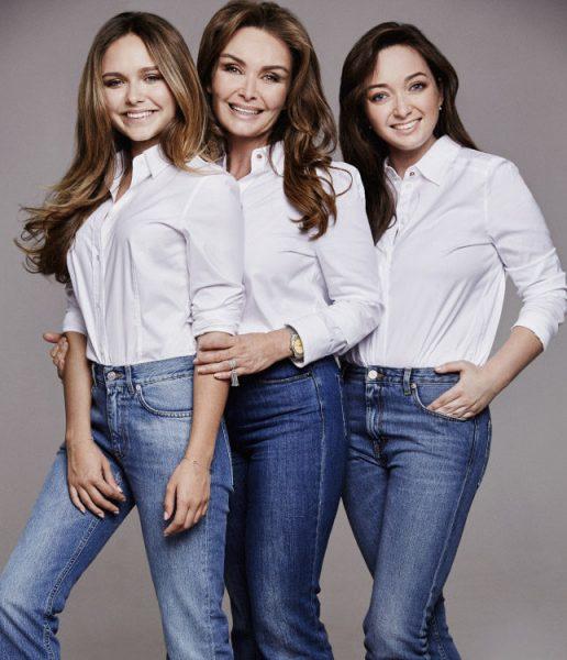 Жена Маликова с дочками