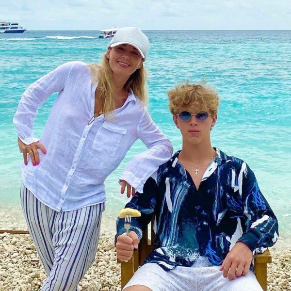 Ирина Линдт с сыном