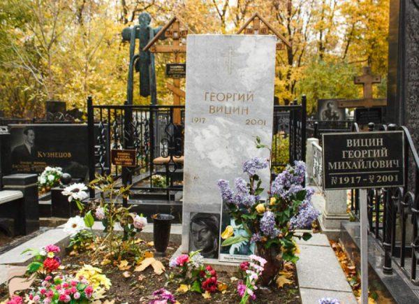 Могила Георгия Вицина