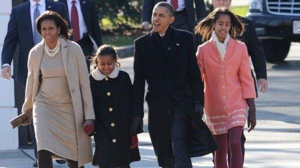 Семья Обама во времена его президентства. Фото 5-tv.ru