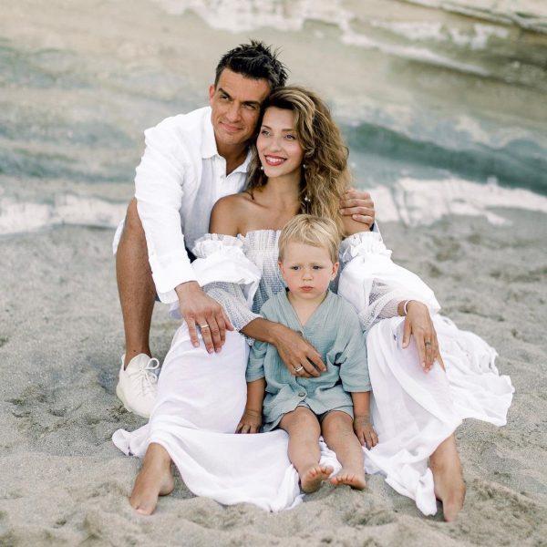 Регина Тодоренко с мужем и сыном