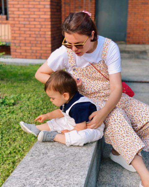 Брухунова с сыном Ваганом