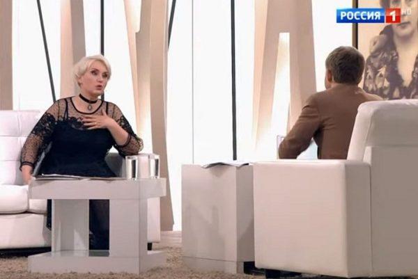 """Ольга Шукшина, кадр из передачи """"Судьба человека"""""""