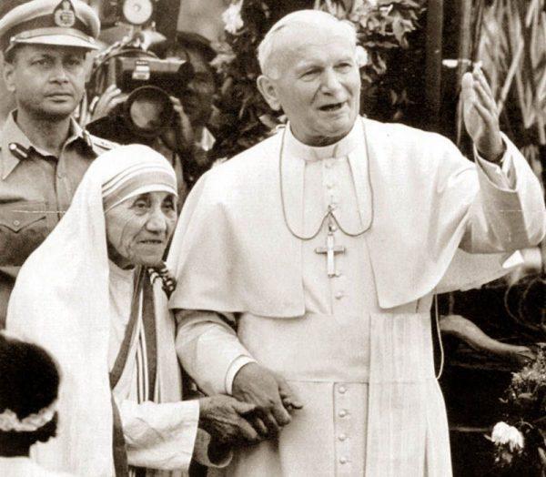 Мать Тереза с папой римским Иоанном Павлом II, 1986г. Фото stopfake