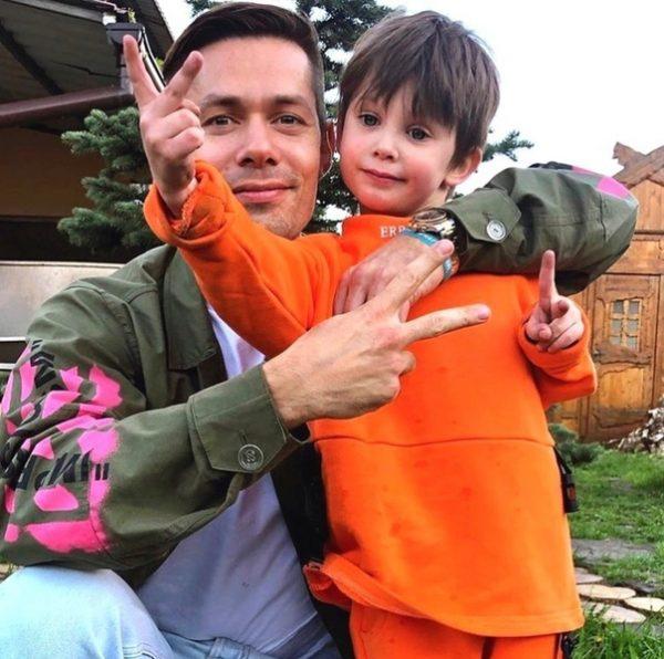 Стас Пьеха с сыном, фото:ВКонтакте