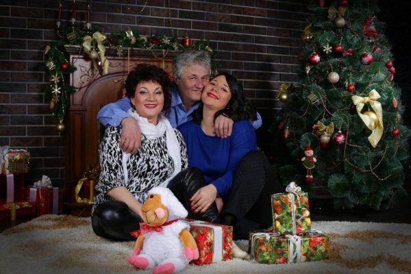 Наталья Исаева с родными на Новый 2021 год